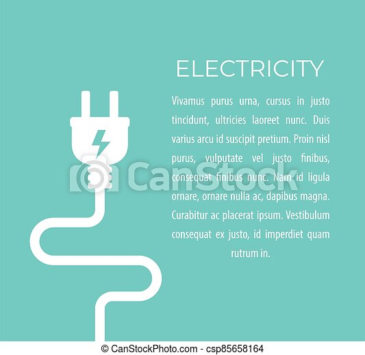 electricity vector illustration with electric plug - csp85658164
