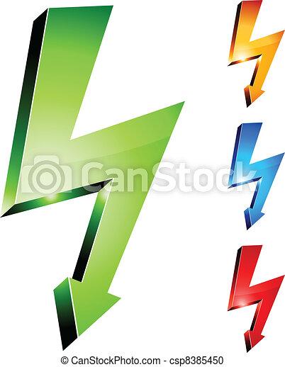 Electricity warning symbols. - csp8385450