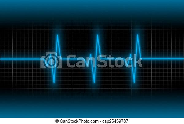 Heartbeat Line Art : Electrocardiogram concept of healthcare heartbeat shown