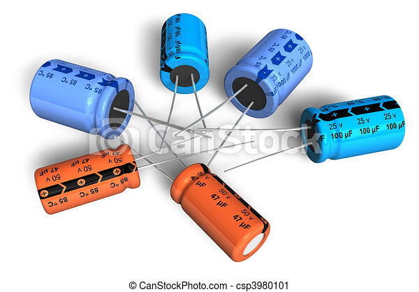 Electrolytic, kondensatoren.