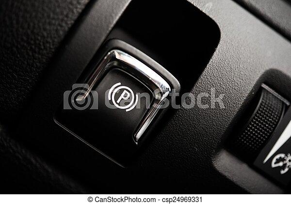 Electronic Brake Button - csp24969331