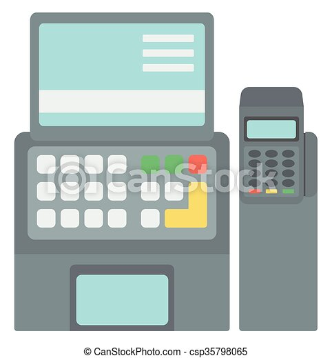 Electronic cash register  - csp35798065
