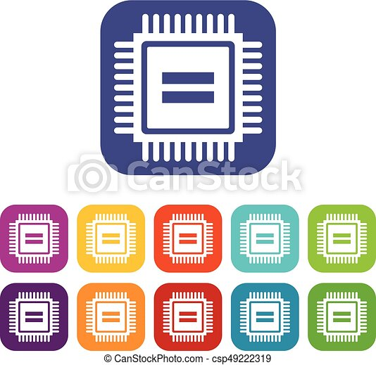 electronic circuit board icons set vector illustration in vector rh canstockphoto com circuit board clipart free circuit board clipart png
