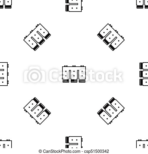 Electronic circuit board pattern seamless black. Electronic... eps ...