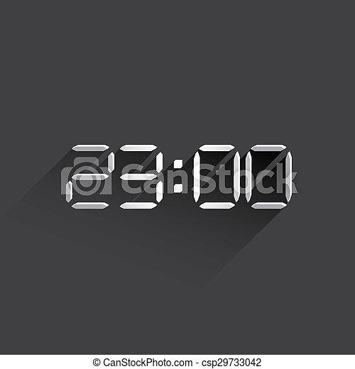 electronic clock web icon. - csp29733042