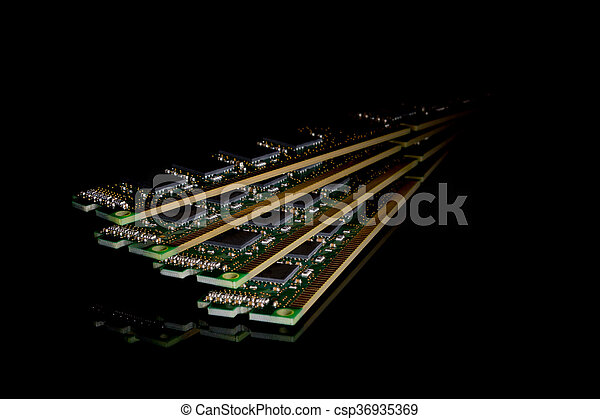 Electronic collection - computer random access memory (RAM) modules - csp36935369