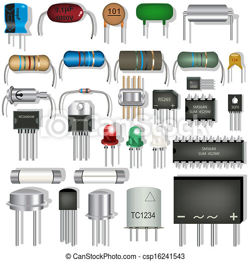 Great Collection Of Different Electronic Components
