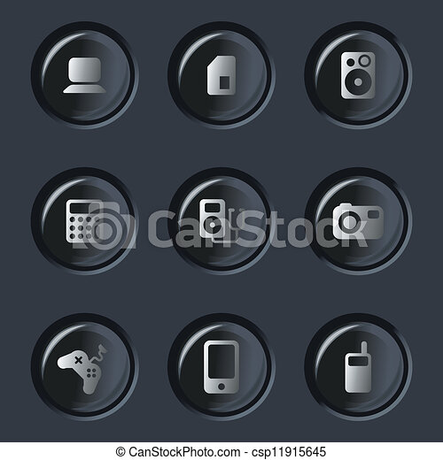 electronic device icons - csp11915645