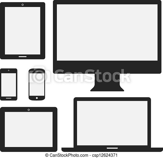 Electronic Device Icons - csp12624371