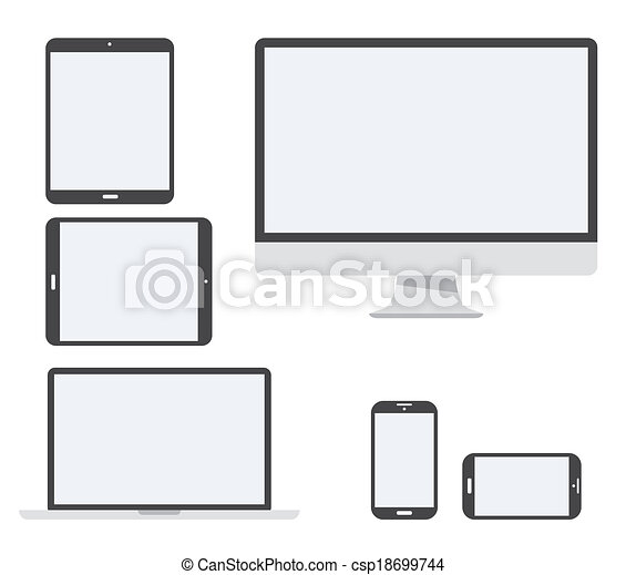 Electronic device vector icon set i - csp18699744