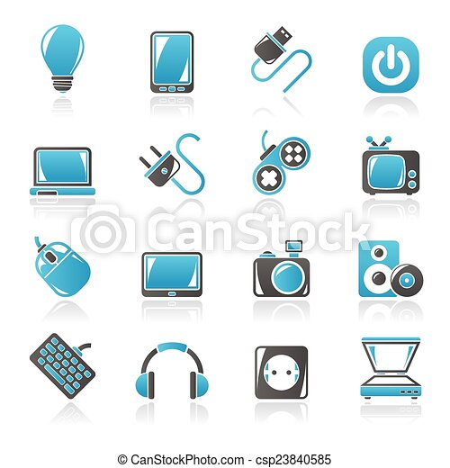 Electronic Devices objects icons - csp23840585