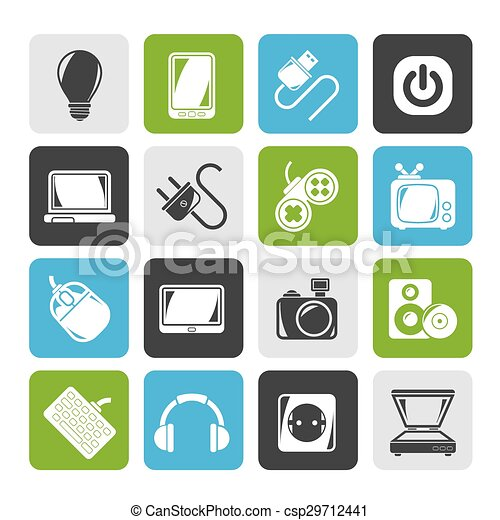 Electronic Devices objects icons - csp29712441