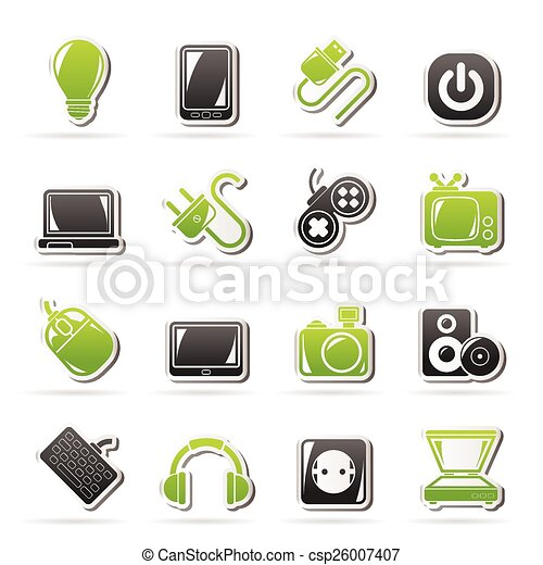 Electronic Devices objects icons - csp26007407