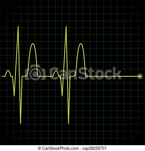 electronic graph in yellow color illustration