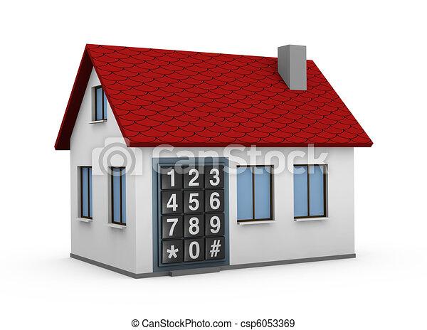 electronic keypad - csp6053369