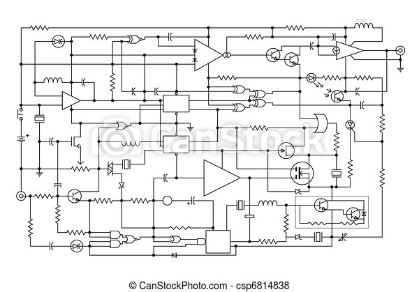 electronic project schematic diagram project of electronic rh canstockphoto com