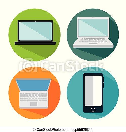 electronics devices set icons - csp55626811