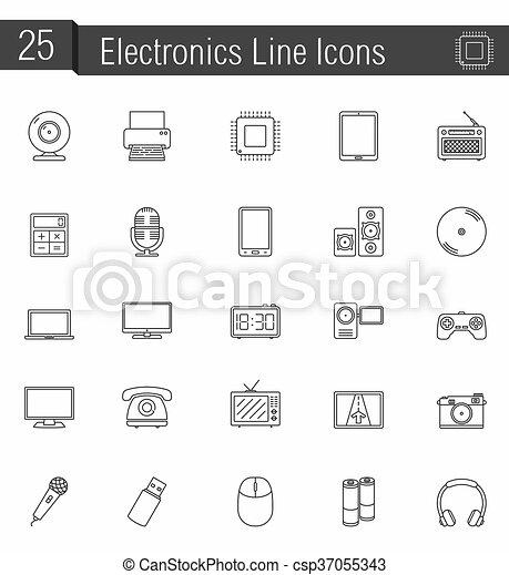 Electronics Icons - csp37055343