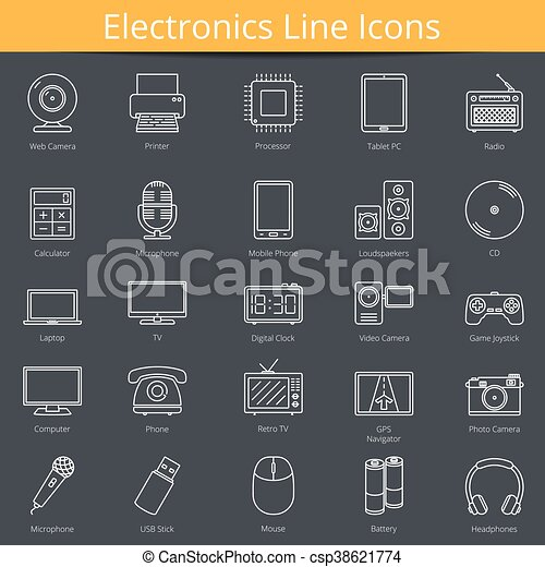 Electronics Icons - csp38621774