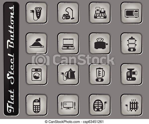 electronics supermarket icon set - csp63451261