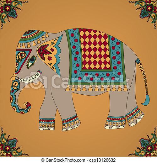 elefante indiano - csp13126632