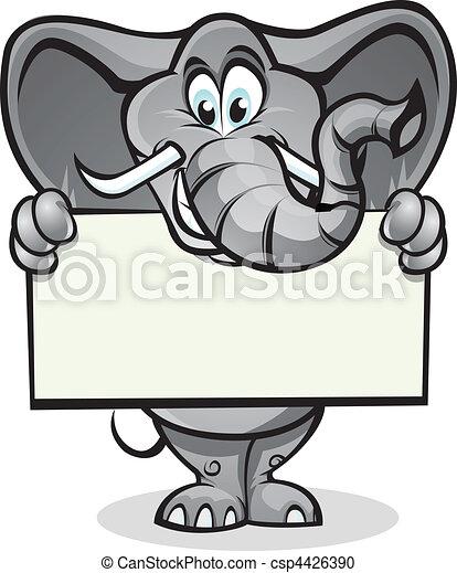 Señales de elefante - csp4426390