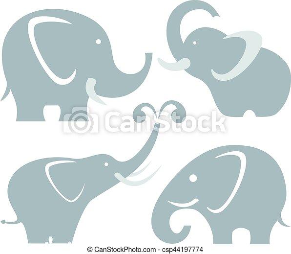 Elefantes - csp44197774