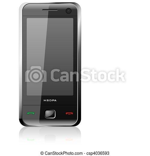 elegáns, fekete, sima, közlőmű - csp4036593