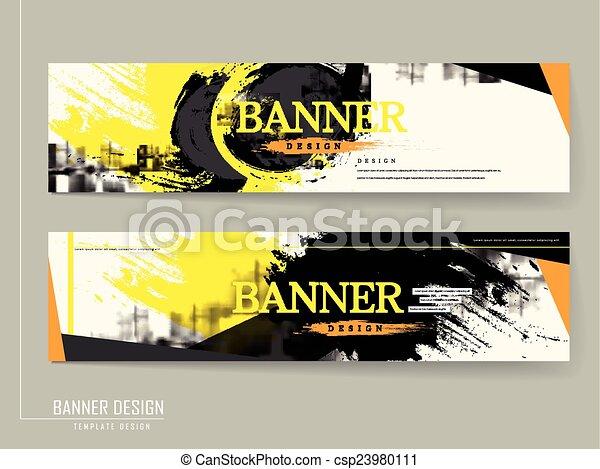 elegáns, transzparens, sablon, tervezés - csp23980111
