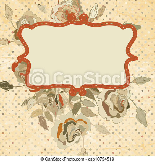 Elegance illustration with flowers. EPS 8 - csp10734519
