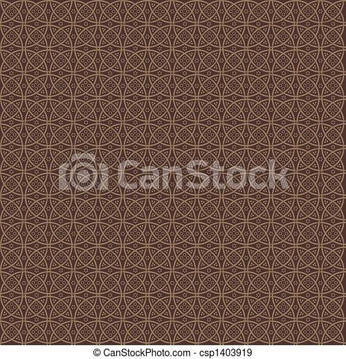Elegance modern pattern in chocolate colours - csp1403919
