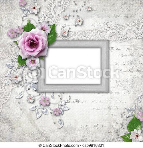 Elegance silver frame for  photo - csp9916301