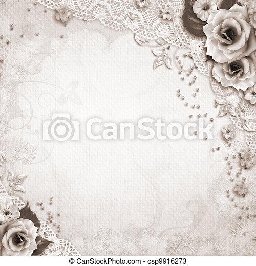 Elegance wedding background - csp9916273