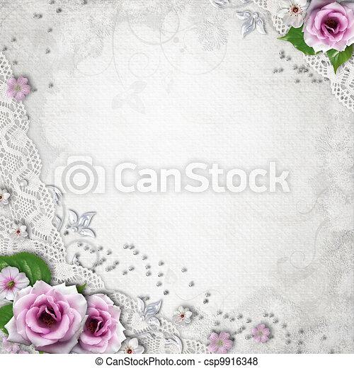 Elegance wedding background - csp9916348