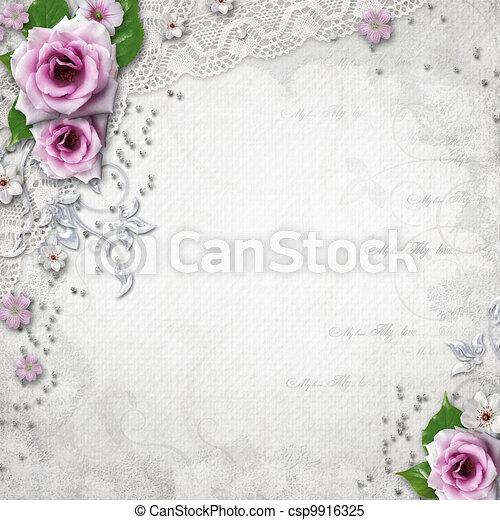 Elegance wedding background - csp9916325