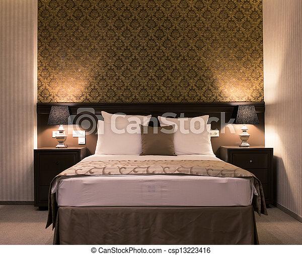 elegancja, sypialnia - csp13223416