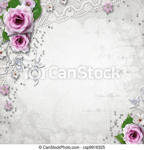 elegancja, tło, ślub - csp9916325