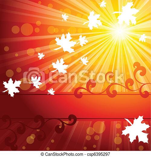 Elegant autumn banner - csp6395297