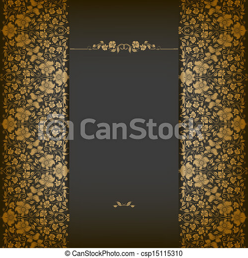 Elegant background with lace ornament - csp15115310