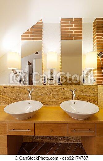 Elegant Badezimmer Zwei Waschbecken Badezimmer Zwei