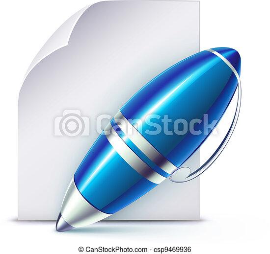 elegant ballpoint pen - csp9469936