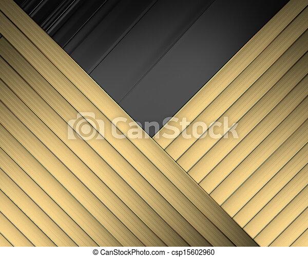 Elegant black background with crossed ribbons - csp15602960
