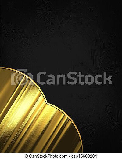 Elegant Black Background With Gold Corner Design Element Template Designgolden Antique Vintage Stock Illustration