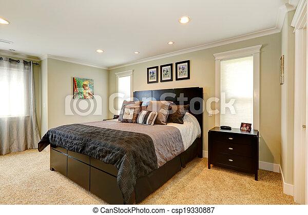 Elegant Black Bedroom Furniture Set Beautiful Bedroom With Elegant Black Queen Size Bed And Nightstand