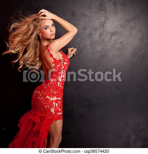 Authoritative answer Sexy blonde red dress opinion