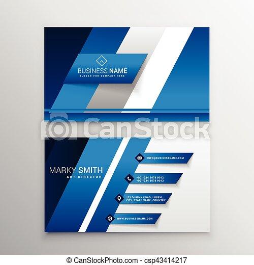 Elegant blue business card design elegant blue business card design csp43414217 reheart Images