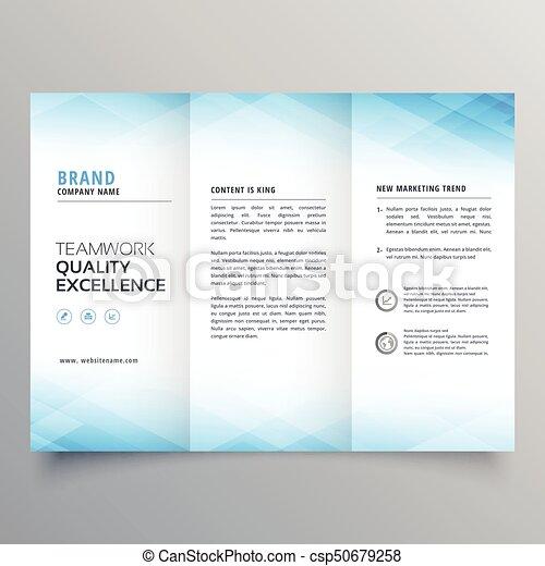 Elegant Blue Trifold Brochure Flyer Design Template