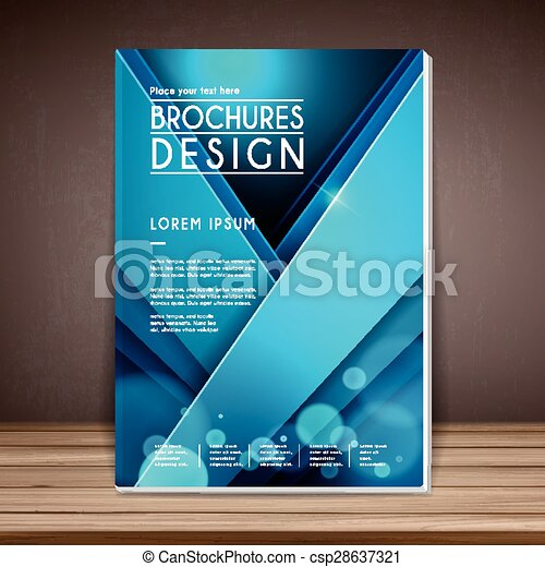 elegant book cover template design with geometric line elements