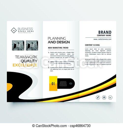 Elegant Bright Trifold Brochure Design Template