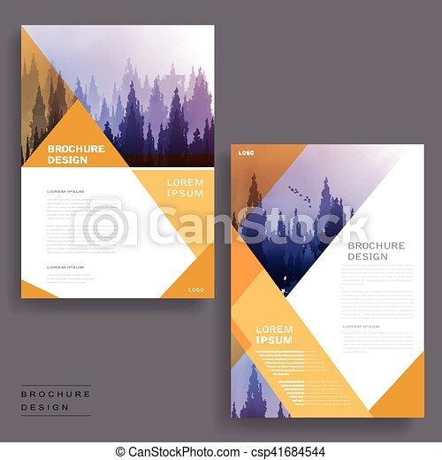 Elegant brochure design. Elegant brochure template design with foggy ...